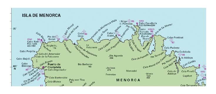 wwwCruiseMenorcacom A guide to Cruising around Menorca Maps