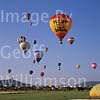 GW02860 = Annual Hot air Balloons regatta in Cala Millor, Mallorca. April - May 1997.